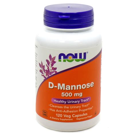 supplement d mannose d mannose 500mg by now foods 120 caps