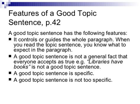 topic sentence for research paper a topic exles of topic sentence and how to