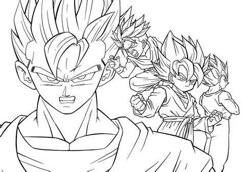 Coloring Pages Manga Coloring Pages Goten Dragon Ball Anime Coloring Pages For Free
