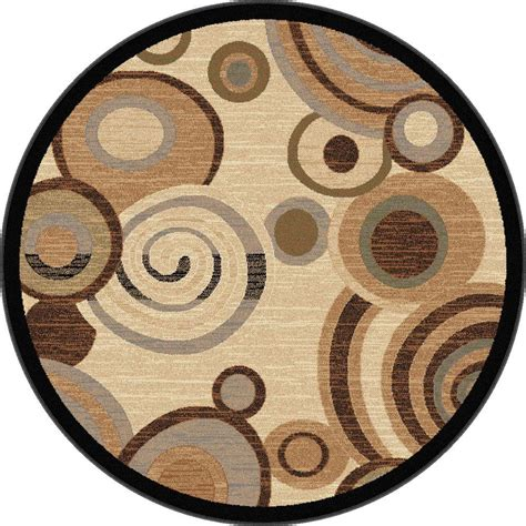 Circular Area Rugs Tayse Rugs Festival Beige 5 Ft 3 In X 5 Ft 3 In Indoor Area Rug 8832 Ivory 6