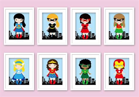 girls superhero bedroom girl superhero wall art superhero posters bedroom by enipixels