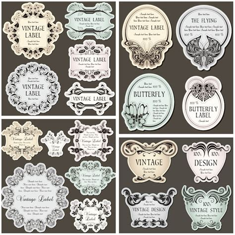 decorative borders for name tags vintage vector graphics blog page 10