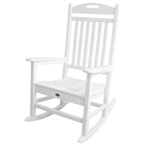 white outdoor rocking chair trex outdoor furniture yacht club classic white patio
