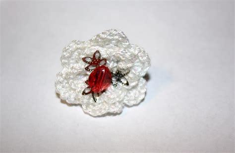 white crochet flower ring pijoandpenda