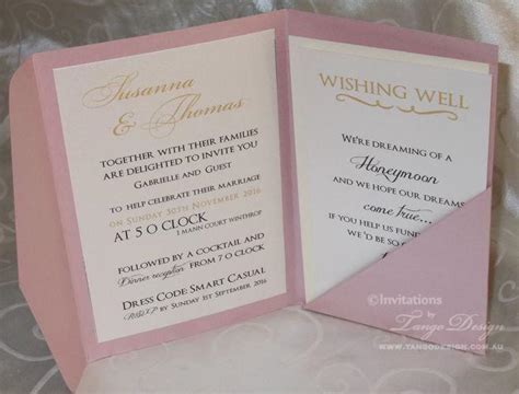 Wedding Invitations Rsvp Card In Envelope by Gold And Pink Wedding Pocketfold Invitations 24 Invites