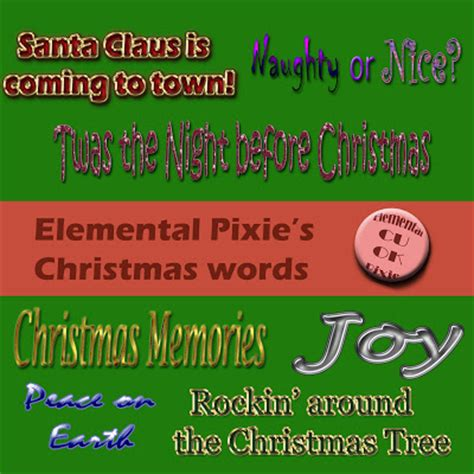christmas words that start with n pixiedust s other place words