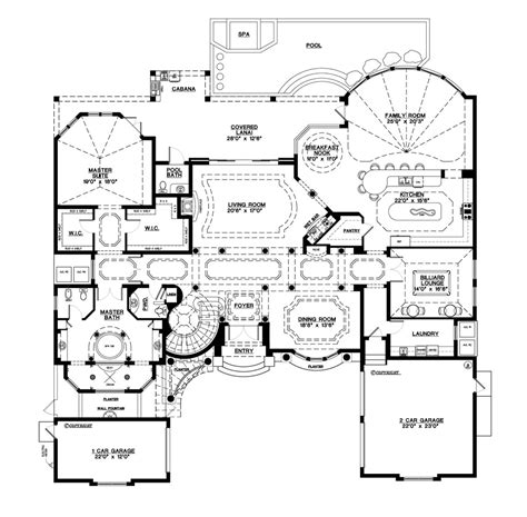 house plains mediterranean style house plan 5 beds 5 50 baths 6045 sq