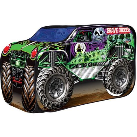 grave digger monster truck party supplies playhut grave digger play tent gregory s 3rd birthday