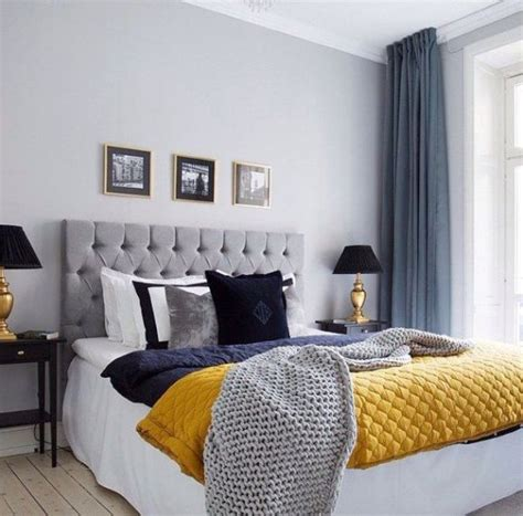 wonderful chic gray blue bedroom design photos 4 with colour schemes grey and blue decor with yellow pop of