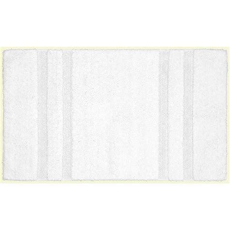 bathroom accent rugs garland rug majesty cotton white 24 in x 40 in washable