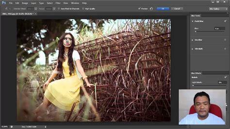 tutorial ngedit foto di photoshop cs5 adobe photoshop cs6 field blur tutorial bokeh youtube