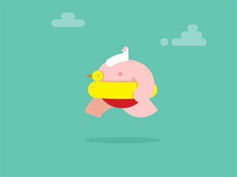 Wallpaper Sticker Dinding Garis Krem Lightblue gordito patitos gif animados y animantes