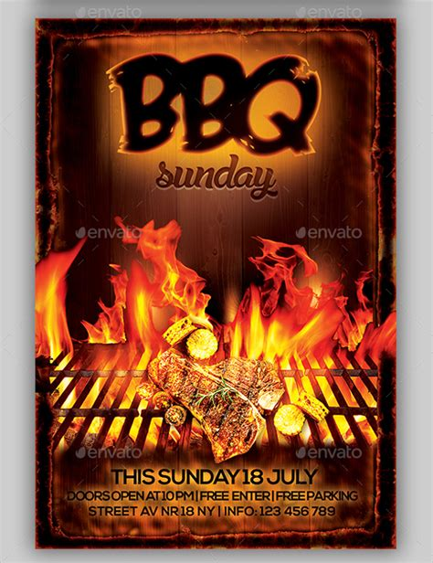 template bbq flyer bbq flyer 20 download in vector eps psd