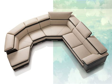 Contemporary Leather Sectional Sofa Samoa Contemporary Italian Leather Sectional Sofa