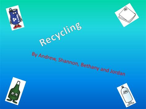 Recycling Powerpoint Reduce Reuse Recycle Ppt