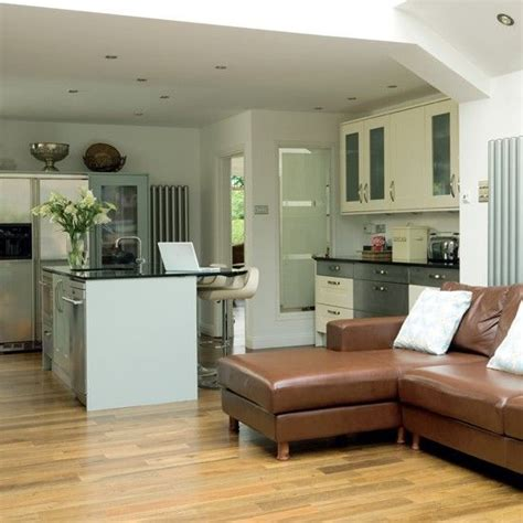large open plan kitchen family room with plenty of light 24cm copper tri ply stockpot a well family kitchen and