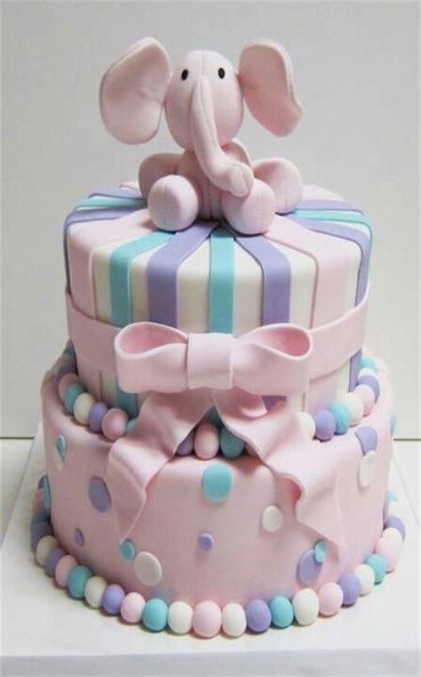 pink elephant baby shower cake pink elephant cake baby shower
