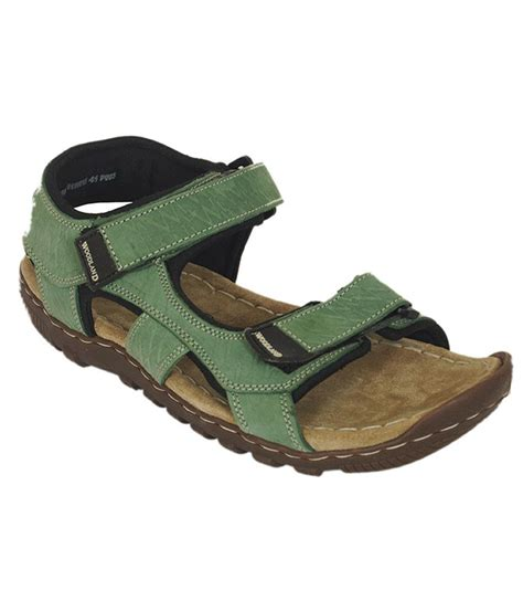 woodland leather sandals woodland sea green leather sandals price in india buy