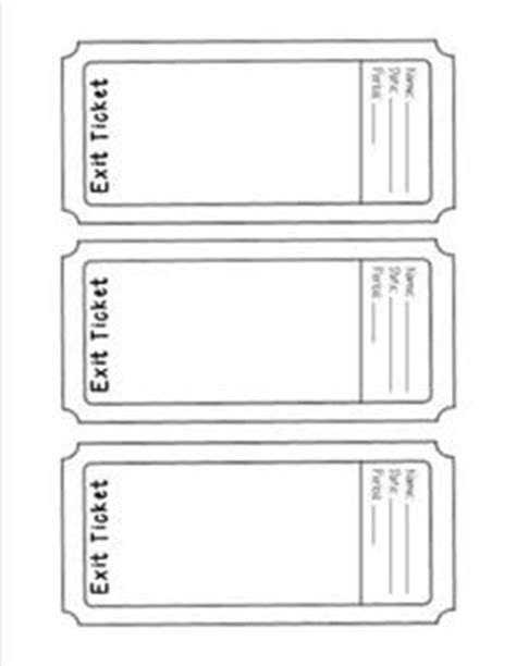 Exit Ticket Template Cyberuse Exit Ticket Template