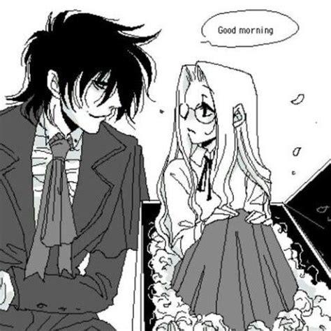 anime couple good morning good morning coffin alucard little integra алукард и