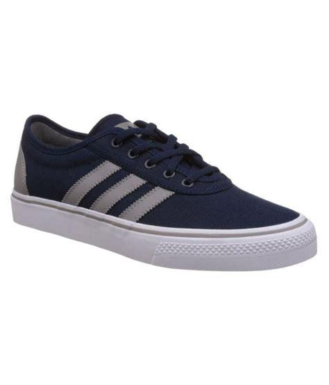adidas blue canvas shoes