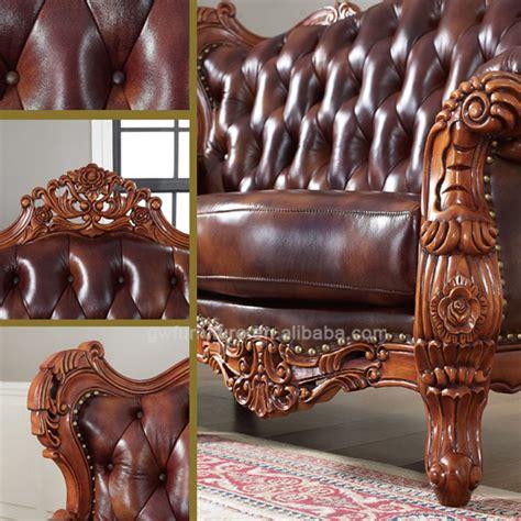 carved wood leather sofa carved wood living room furniture peenmedia com