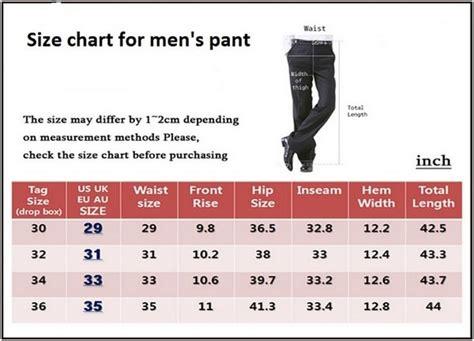 s to s pant size conversion table basic pant measurement procedure fashion2apparel