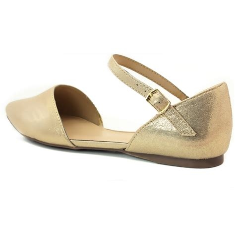 flat shoe with ankle s designer inspired pointy toe d orsay ballet flat