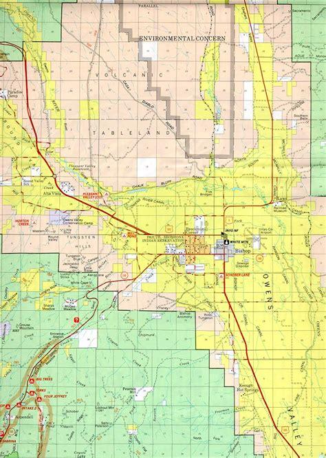 california map bishop map of bishop california california map