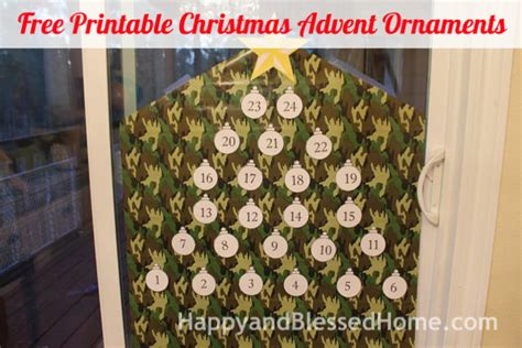 free printable advent ornaments free advent calendar and advent christmas ornaments craft