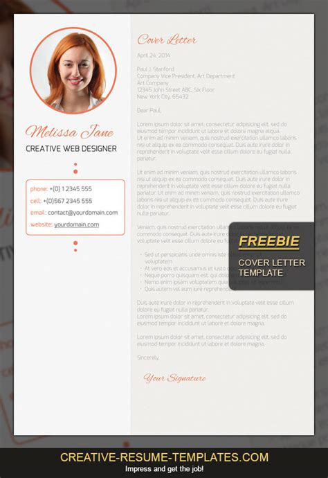 Creative Cover Letter And Resume Templates Free Cover Letter Template