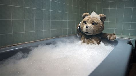 bear in a bathtub ted the bear facts fxguide