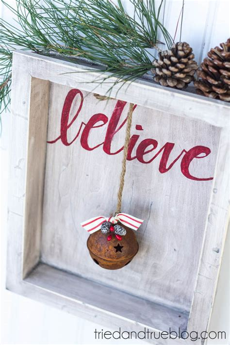 believe holiday decoration quot believe quot rustic tried true
