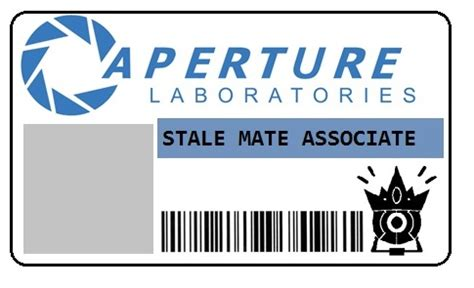 aperture science id card template aperture science employee id badge by hatter10 7 on deviantart