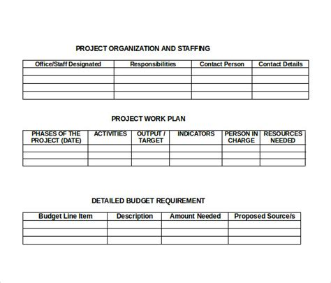 Formal Project Template sle formal 18 documents in pdf word