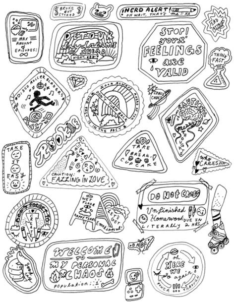 Printable Sticker Book Pages