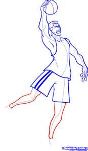 Draw A How To Draw A Basketball Player Step By Step Sports Pop