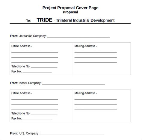 sle proposal cover page template 14 free documents