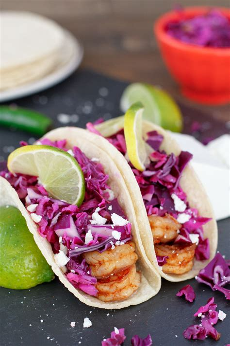 Recipes From My Kitchen by Spicy Shrimp Tacos With Cabbage Slaw Snixy Kitchen