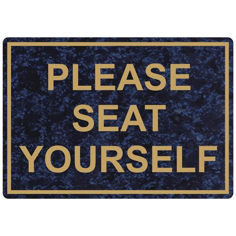 seat yourself engraved sign egre 15789 gldoncblu