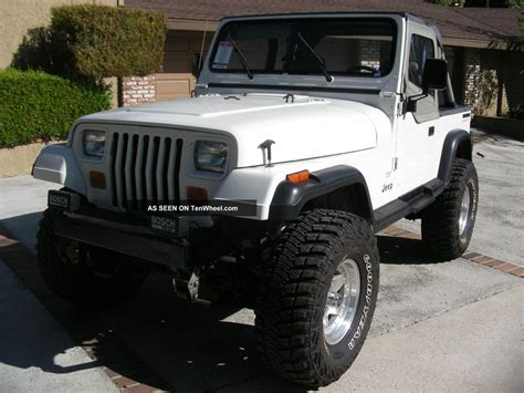 1988 Jeep Wrangler Yj 1988 Jeep Wrangler 4 2 Efi Complete Restoration