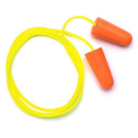 Ear Plugs Foam pyramex dp1001 disposable corded polyurethane foam ear plugs 31 nrr fullsource