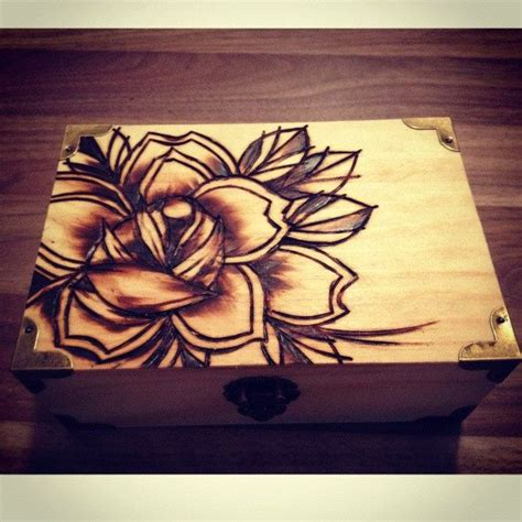 burning rose tattoo pyrography woodburning traditional projects to
