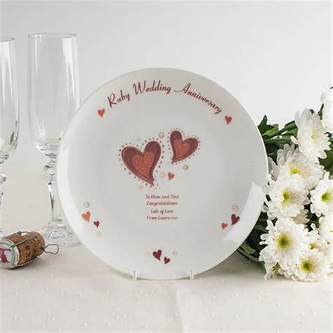 40th Ruby Wedding Anniversary Gifts   GettingPersonal.co.uk