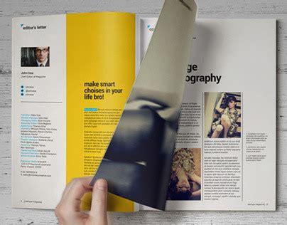 print digital magazine templates on behance