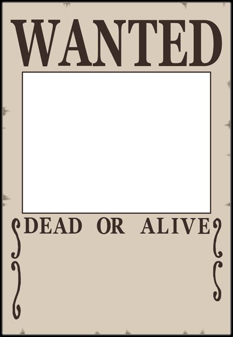 8 best images of blank wanted posters printable white