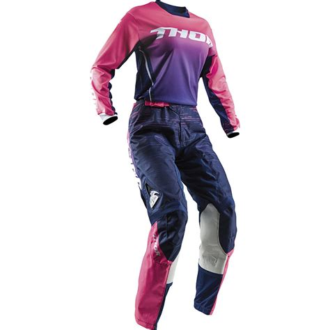 womens thor motocross gear thor mx 2018 pulse navy pink lime womens dirt
