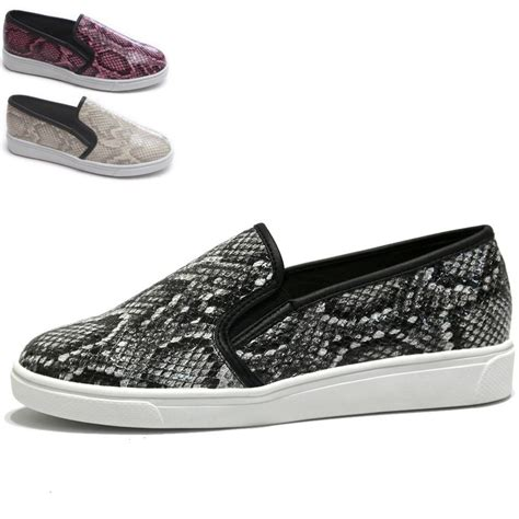 snake print slip on sneakers womens snake print slip on sneakers python print low cut