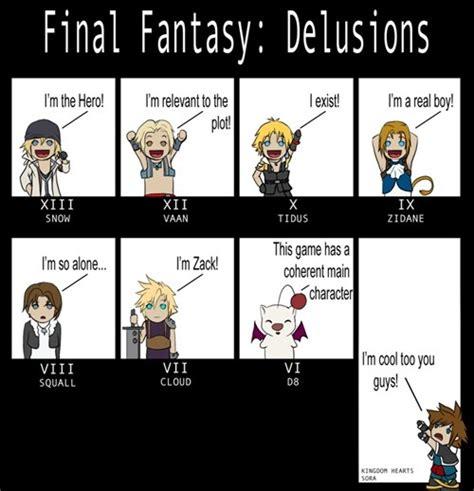 Final Fantasy Memes - some memes part2 kingdom hearts and final fantasy photo