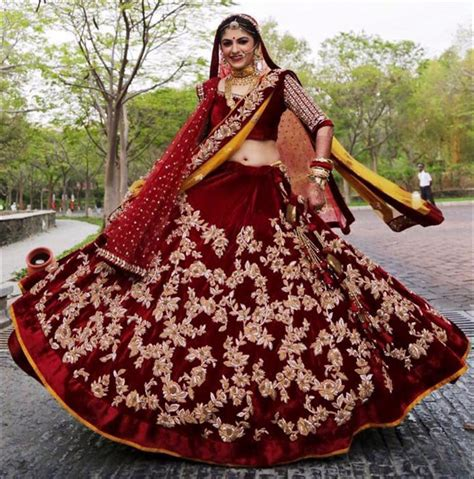 How To Drape Fabric For A Wedding 10 Velvet Bridal Lehengas That Look Magnificent And Royal